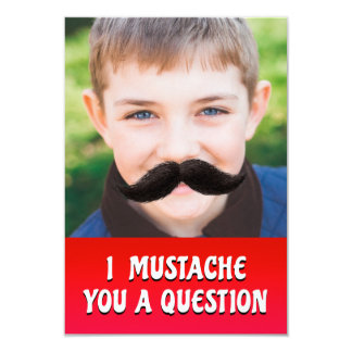 I Mustache You A Question - Valentine's Day card