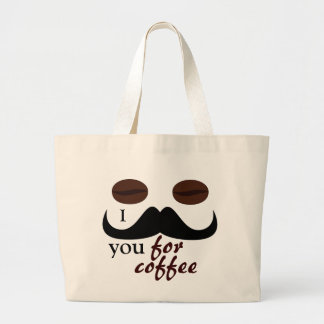 I mustache you for coffee bag