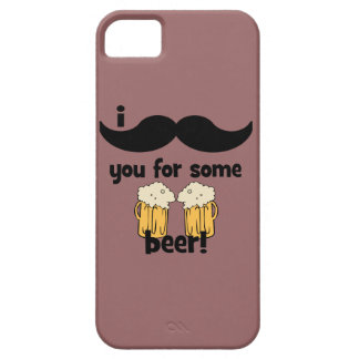 I mustache you for some beer iPhone 5 cover