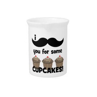 I mustache you for some cupcakes pitcher