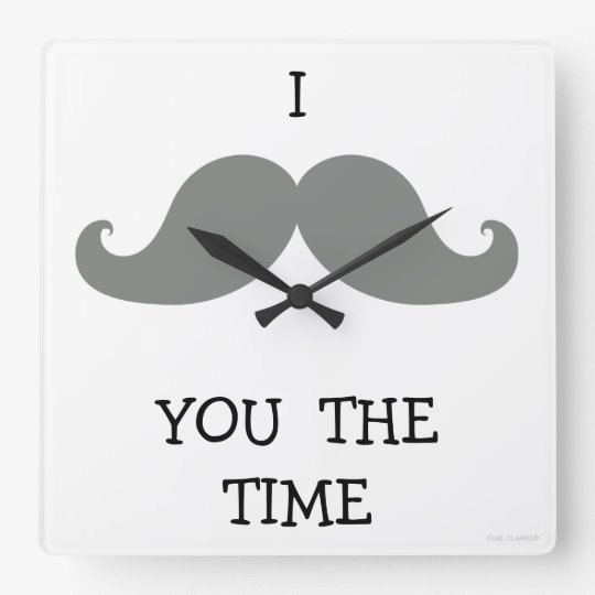 I MUSTACHE YOU THE TIME CLOCK | GREY