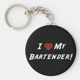 I ♥ My Bartender! Basic Round Button Keychain