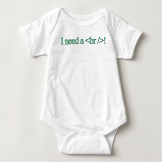I need a break! baby bodysuit