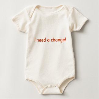 I need a change! baby bodysuit