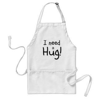 I Need a Hug!  Minimalist Art Standard Apron