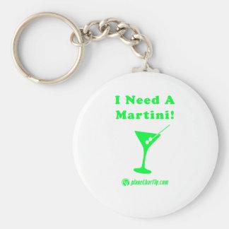 I Need A Martini! Basic Round Button Keychain