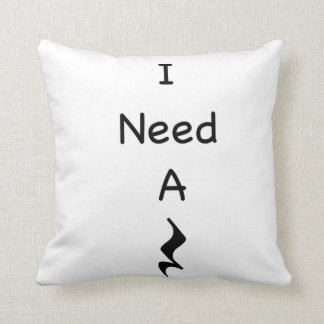 "I Need A Rest Music Throw Pillow 16"" x 16"""