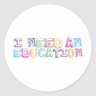I need an education round stickers