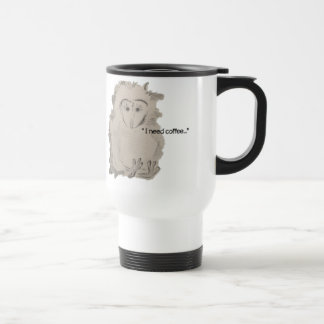 """I need coffee"" Custom 15 oz Travel/Commuter Mug"