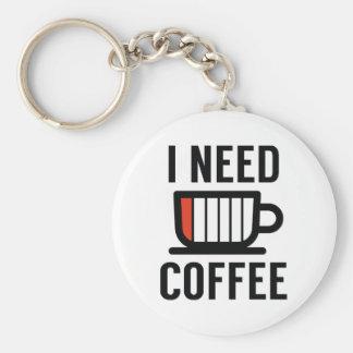 I Need Coffee Keychain