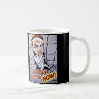 I NEED COFFEE NOW Coffee Mug - Original Artwork