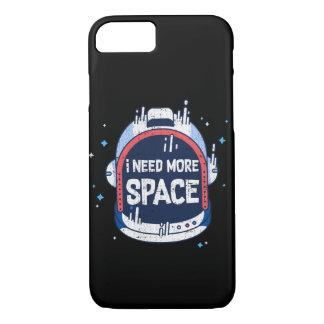 I Need More Space Aerospace Rocket Helmet iPhone 7 Case