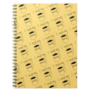 I need my coffee notebooks