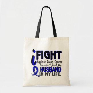 I Need My Husband Colon Cancer Canvas Bag