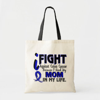 I Need My Mom Colon Cancer Budget Tote Bag