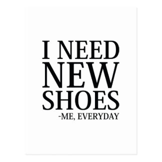 I Need New Shoes Postcard