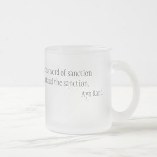 I need no warrant frosted glass coffee mug