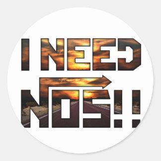 i need nos round sticker