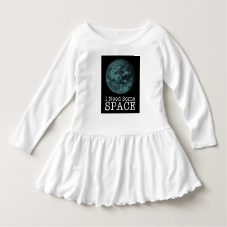I Need Some Space Toddler Ruffle Dress