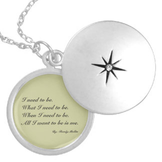 I need to be...Necklace Silver Plated Necklace
