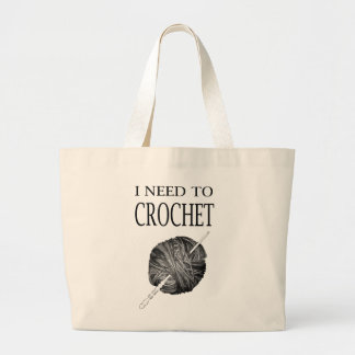 I need to crochet yarn and project large tote bag