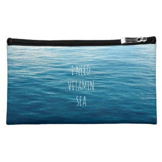 I NEED VITAMIN SEA - Cosmetic bag with waves.