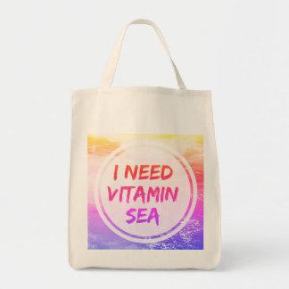 I Need Vitamin Sea Grocery Tote Shopper Bag