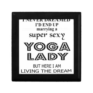 I never dreamed marrying a sexy yoga lady jewelry boxes
