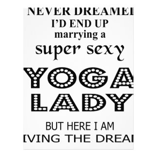 I never dreamed marrying a sexy yoga lady letterhead