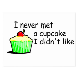 I Never Met A Cupcake I Didnt Like Postcard