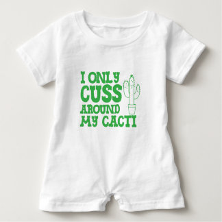 i only cuss around my cacti baby romper