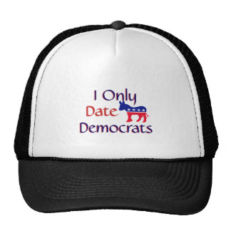 I Only Date Democrats Mesh Hat