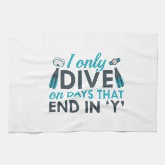 I Only Dive Towel