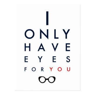 I Only Have Eyes For You - Clear Glasses Postcard