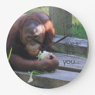i only have eyes for you, funny orangutan clock