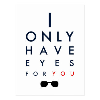 I Only Have Eyes For You - Sunglasses Postcard