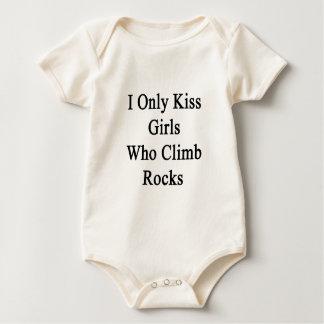I Only Kiss Girls Who Climb Rocks Baby Bodysuit
