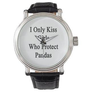 I Only Kiss Girls Who Protect Pandas Wristwatch