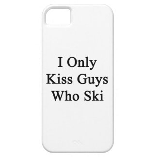 I Only Kiss Guys Who Ski iPhone 5 Cases