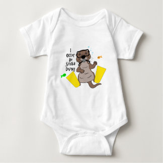 I Otter Be Scuba Diving Baby Bodysuit