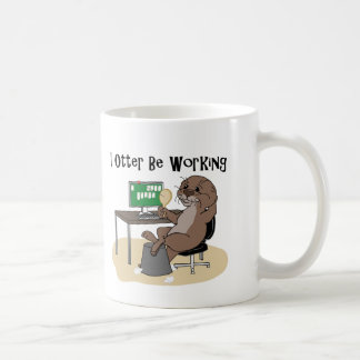 I Otter Be Working Coffee Mug