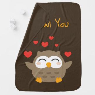 I Owl You Illustration Baby Blanket