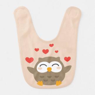 I Owl You Illustration Bib