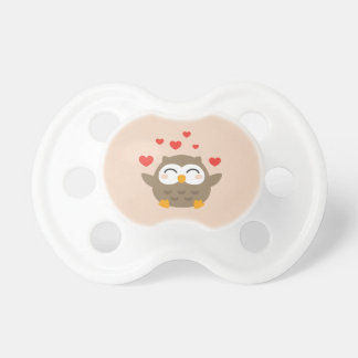 I Owl You Illustration Pacifier