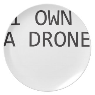 I own a Drone Dinner Plate
