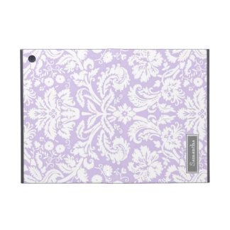 i Pad  Lilac Damask Custom Name Cover For iPad Mini