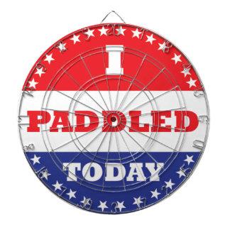 I Paddled Today Dartboard