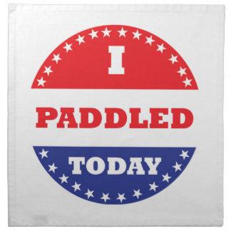 I Paddled Today Napkin