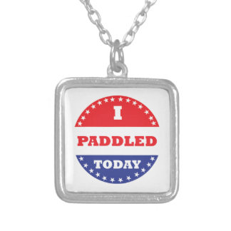 I Paddled Today Silver Plated Necklace