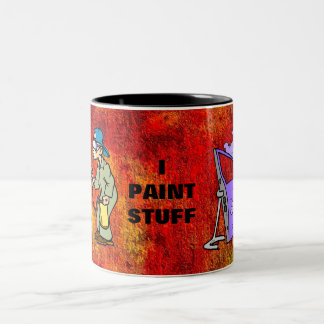 I Paint Stuff Two-Tone Coffee Mug